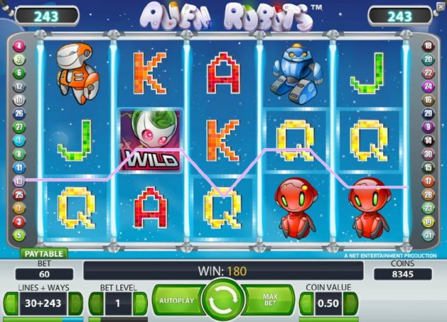three of a kind pays out a 180 coin jackpot - Casino Bonus Beater