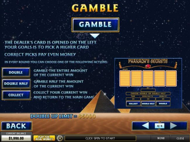 Gamble Feature Games Rules