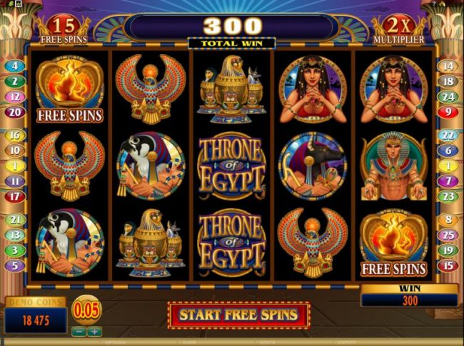 here is the start of the free spins bonus feature - Casino Bonus Beater