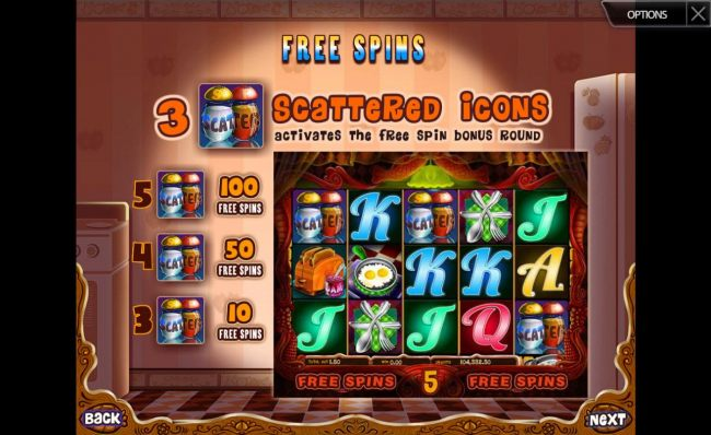 Casino Bonus Beater - Free Spins Rules - 3 or more scattered Salt and pepper symbols trigger the Free Spins feature.