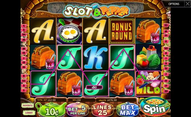 A 50.00 payout awarded as a result of a winning five of a kind. by Casino Bonus Beater