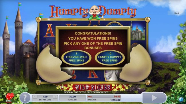 Images of Humpty Dumpty Wild Riches