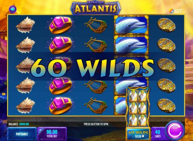 Casino Bonus Beater - Add up to 60 extra wilds to the reels for an additional fee.