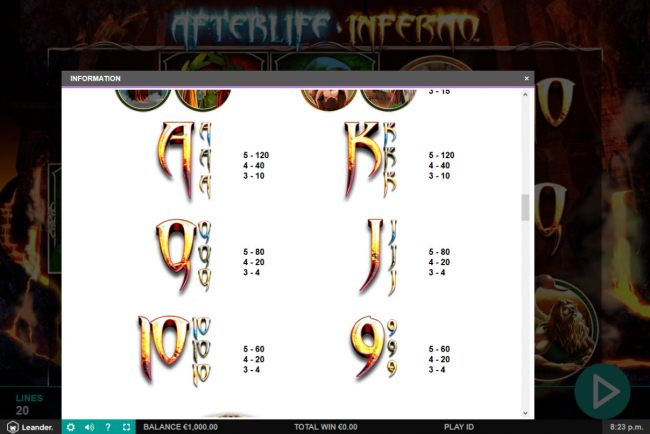 Afterlife Inferno by Casino Bonus Beater