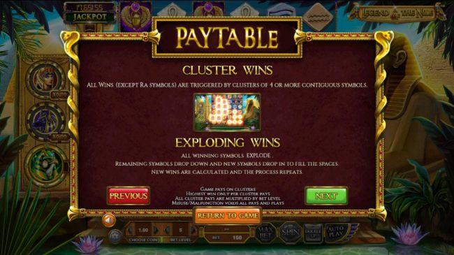 Casino Bonus Beater - Cluster Wins and Exploding Wins Rules