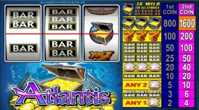 main game board featuring three reels and one payline - Casino Bonus Beater