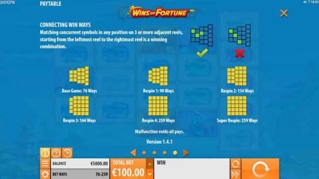 Wins of Fortune screenshot