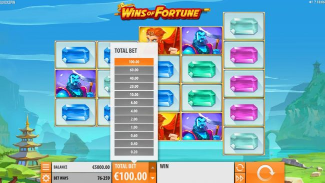 Casino Bonus Beater - Click on the TOTAL BET up-arrow to adjust the coin value.