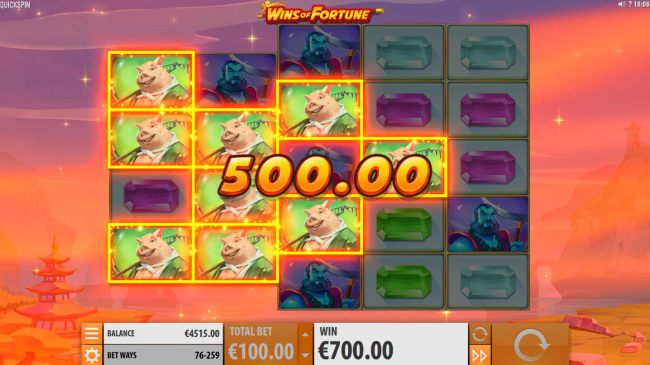 Multiple winning symbol combinations triggers a 500.00 payout. - Casino Bonus Beater