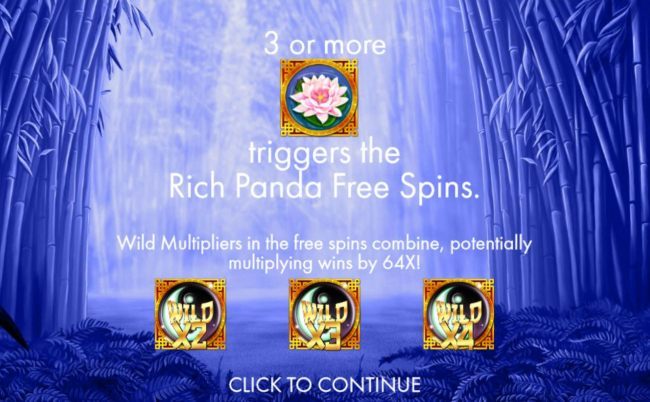 Casino Bonus Beater - 3 or more pink lotus flower scatters triggers the Rich Panda Free Spins. Wild multipliers in the free spins combine, potentially multiplying wins by 64x!