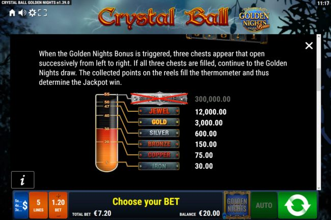 Crystal Ball Golden Nights Bonus by Casino Bonus Beater