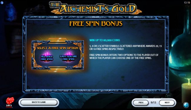 The Alchemist's Gold by Casino Bonus Beater