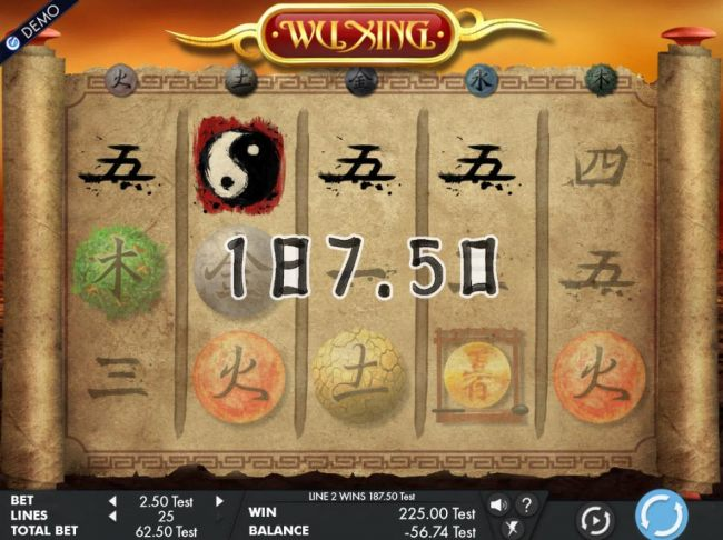 Gond Wild symbols triggers a winning four of a kind leading to a 187.50 pay out. - Casino Bonus Beater