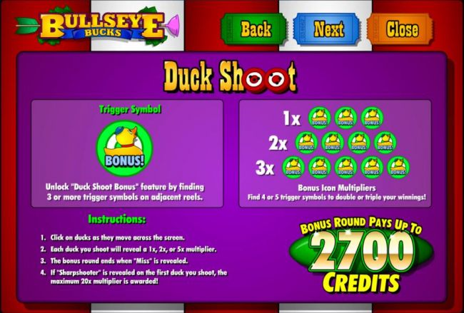 Casino Bonus Beater - duck shoot bonus feature rules and paytable
