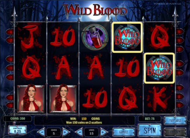 Casino Bonus Beater - two scatter symbols triggers a 2x your bet payout