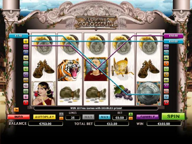 a $109 jackpot triggered by multiple winning paylines