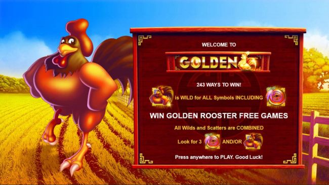 Casino Bonus Beater - Game features include: 243 ways to win, Win Golden Rooster Free Games, All wilds and Scatters are combined.