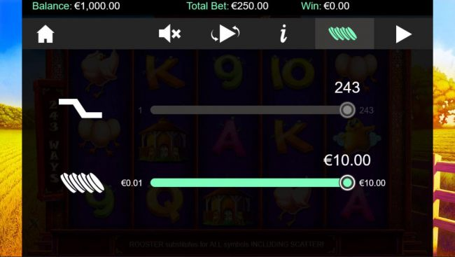 Click on settings to adjust coin value. - Casino Bonus Beater
