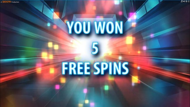 5 free spins awarded.