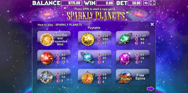 Sparkly Planets by Casino Bonus Beater