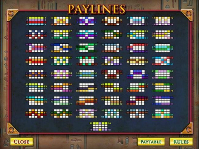 Casino Bonus Beater - payline diagrams