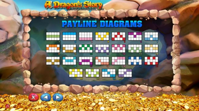 Paylined diagrams 1-25