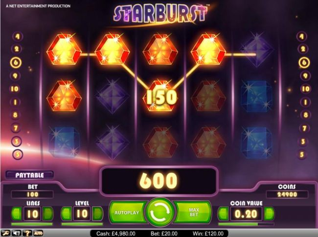 Casino Bonus Beater image of Starburst