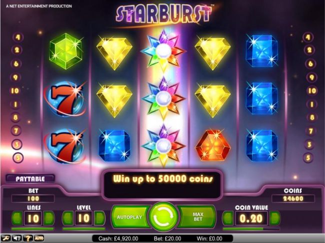 Starburst wild activated when the stars are aligned - Casino Bonus Beater