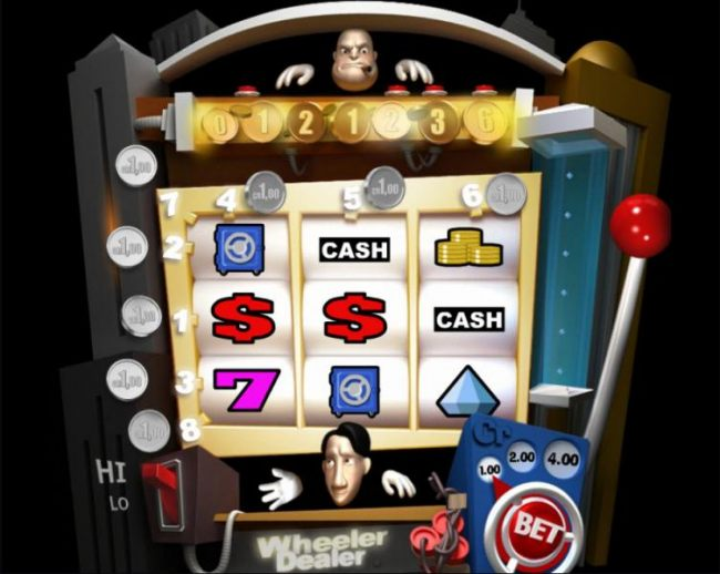 Main game board featuring three reels and 8 paylines with a $4,000 max payout by Casino Bonus Beater