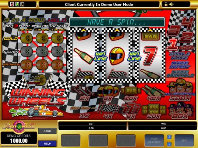 main game board featuring 3 reels and a single payline - Casino Bonus Beater