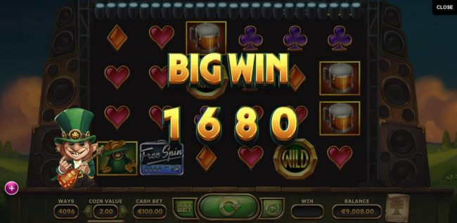 Casino Bonus Beater - Multiple winning combinations triggers a 1680 coin big win