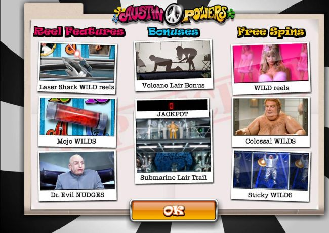 Reel features, Bonuses and Free Spins.