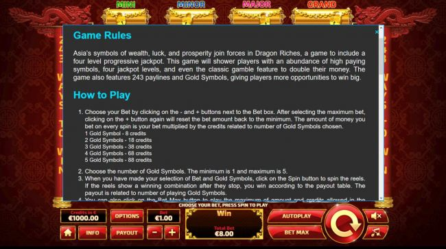 Images of Dragon Riches