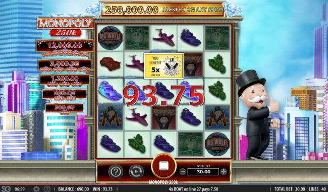 An x5 win multiplier applied to winnings by Casino Bonus Beater