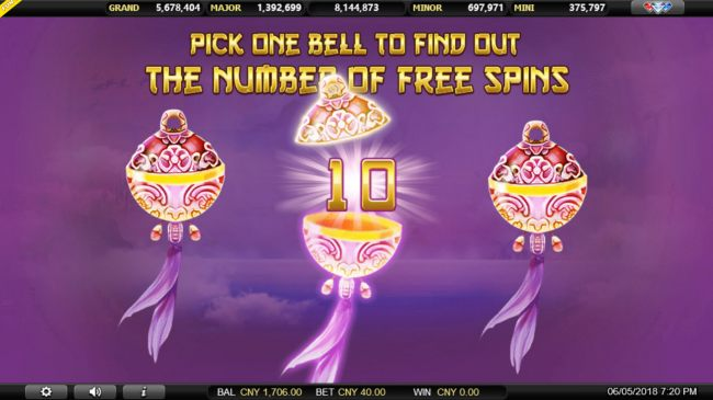 Casino Bonus Beater - Pick a bell to reveal a prize