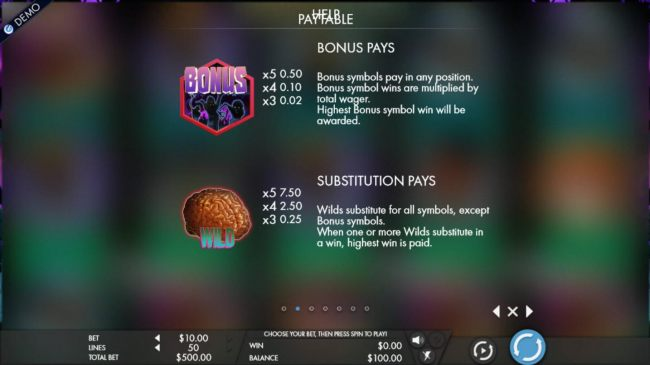 Bonus Pays and Substitution Pays