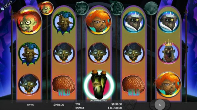 Free spins game board - landing an antidote symbol on the 3rd reel will cure one zombie hunter at a time and turn thm in wilds for the remainder of the game.