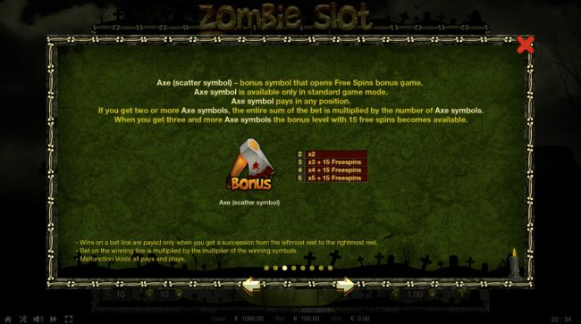 Casino Bonus Beater image of Zombie Slot