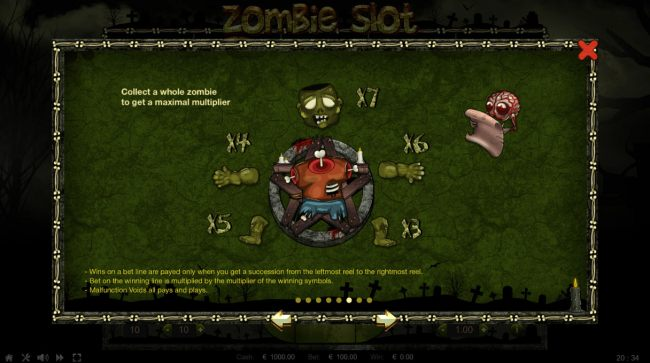 Collect a whole zombie to get maximal multiplier