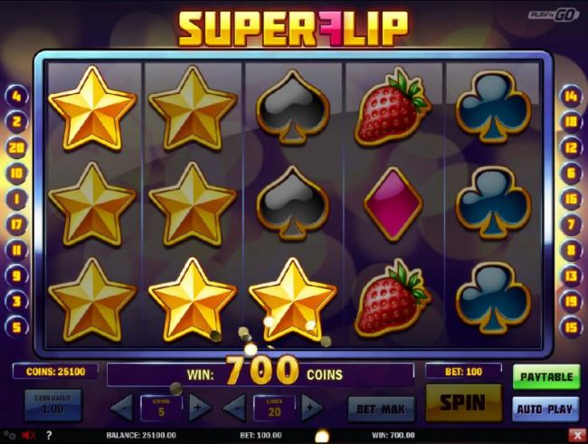 Casino Bonus Beater - The respin feature triggers  multiple winning conbinations and a 700 coin pay out.