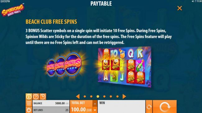 Casino Bonus Beater image of Spinions Beach Party