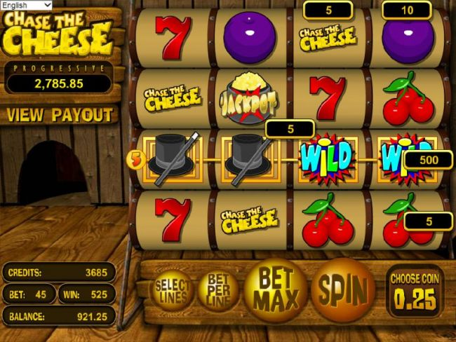 four of a kind triggers a 500 credit big win by Casino Bonus Beater