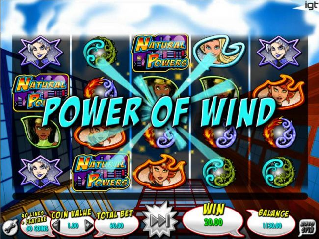 Power of Wind Mystery feature is randomly triggered after game play has completed. - Casino Bonus Beater