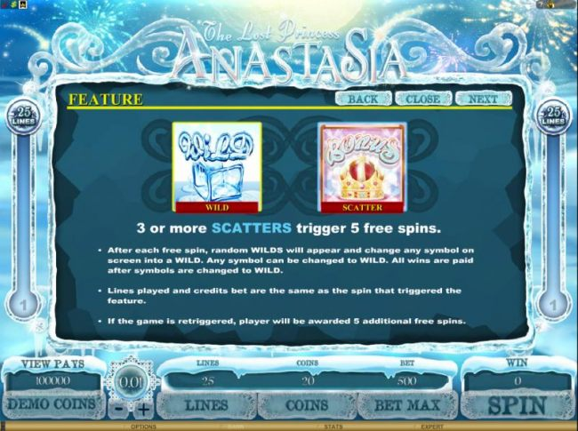 Casino Bonus Beater - 3 or more scatters trigger 5 free spins