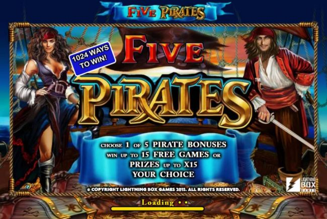 This game features 1024 ways to win. Choose 1 of 5 pirate bonuses. Win up to 15 free games or prizes up to X15 your choice.
