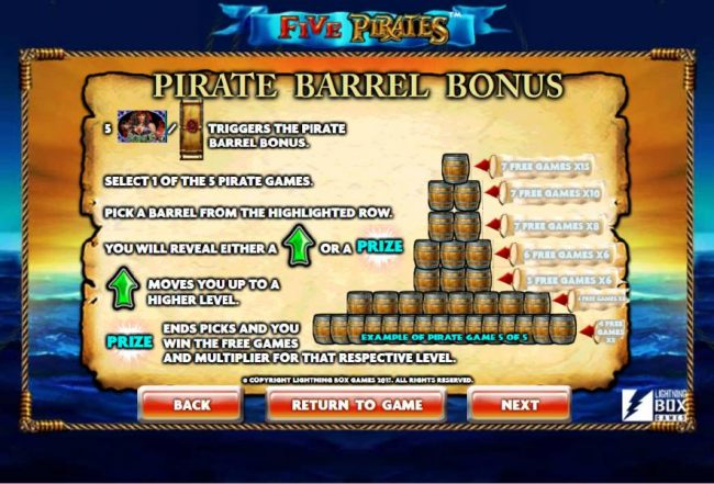 Casino Bonus Beater - Pirate Barrel Bonus rules and how to play.