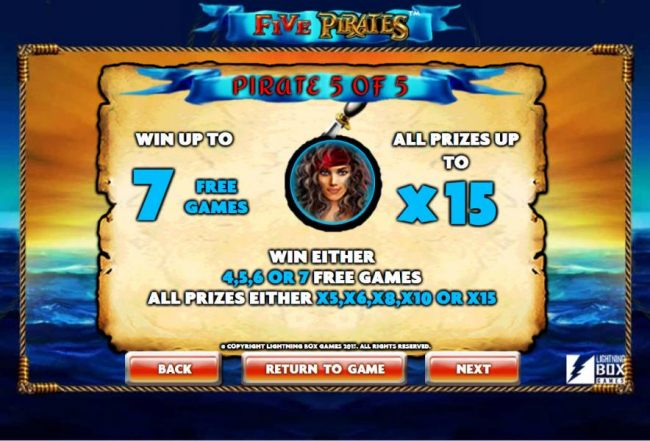 Five Pirates screenshot