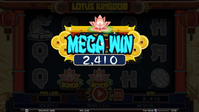 50 line and 5 reel online video slot machine lotus kingdom reviewed by casino bonus beater izmirmasajfo