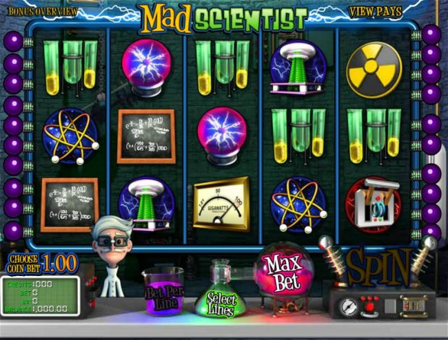 main game board featuring five reels and twenty paylines by Casino Bonus Beater