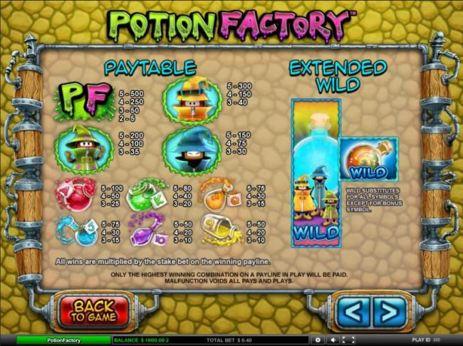 Potion Factory by Casino Bonus Beater